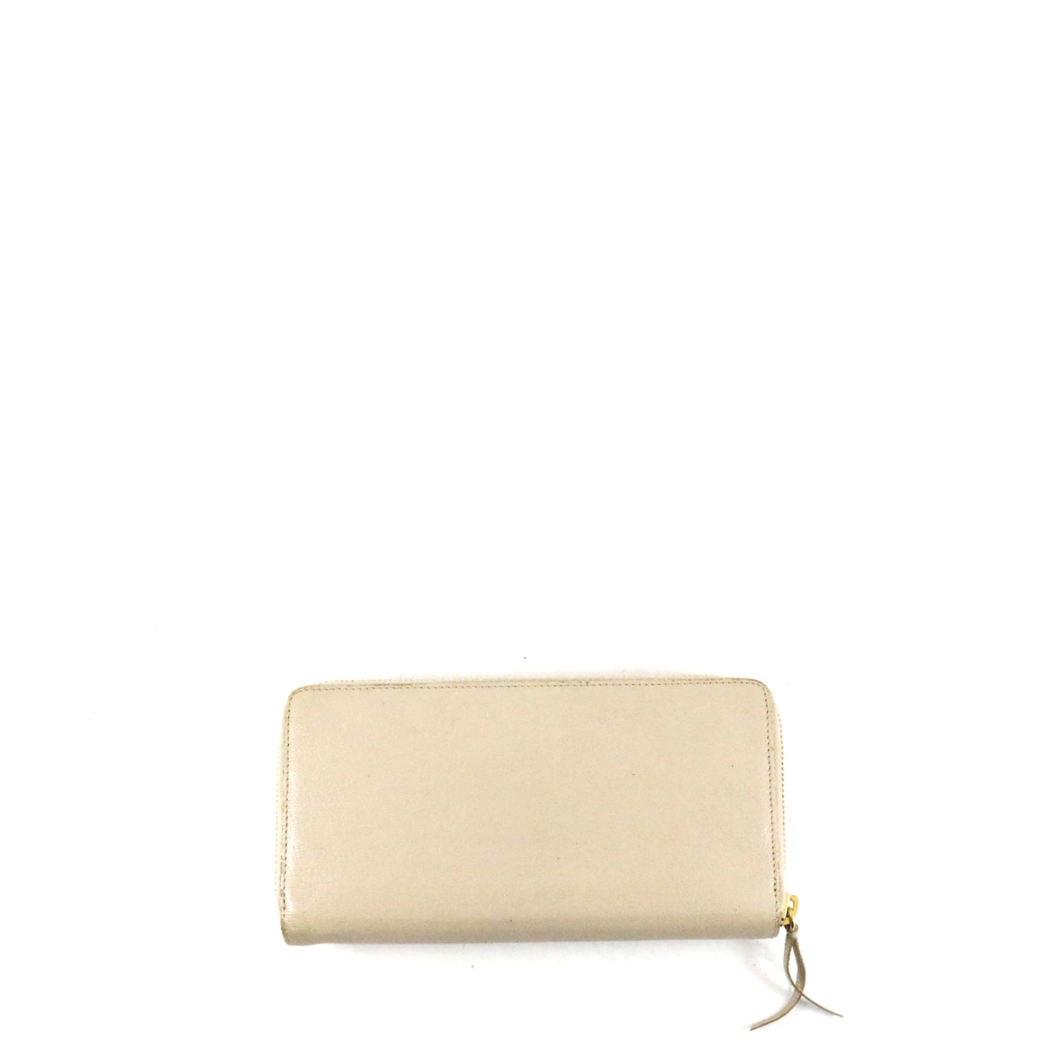 Chevre Metallic Edge Gold Continental Wallet