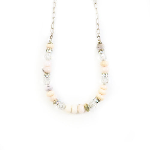 Soft Nude Statement Necklace