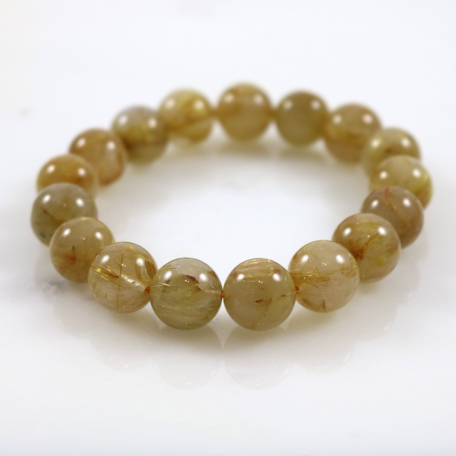 Golden Yellow Crystal Bead Stretch Bracelet