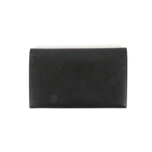 Black Saffiano Flap Wallet