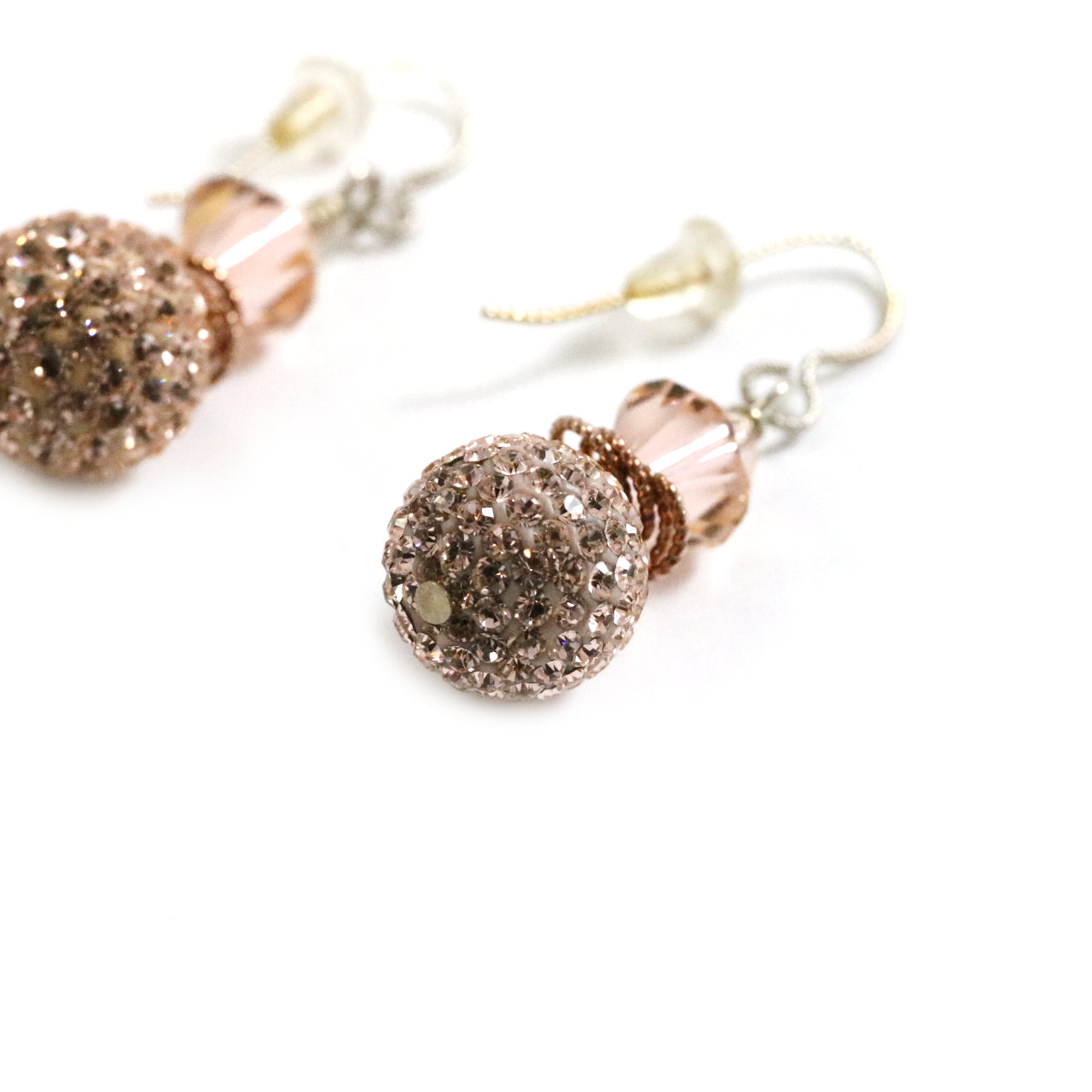 12mm Rose Gold Drop Earrings