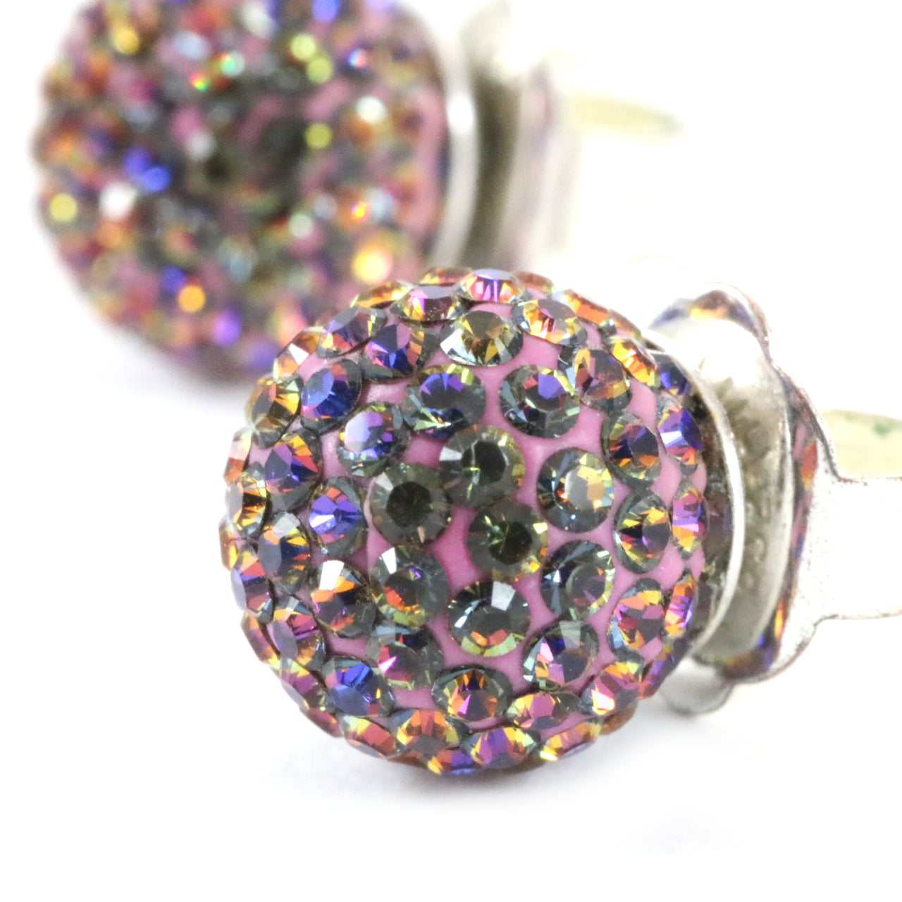 Electric Sunset Sparkle Ball Earrings