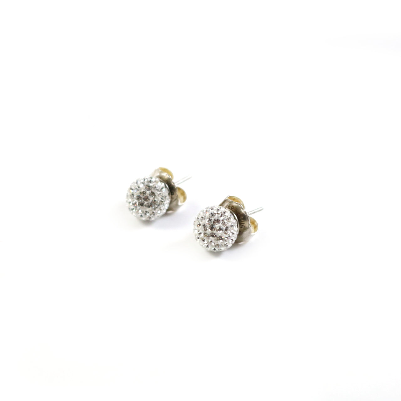 10mm White Stud Earrings