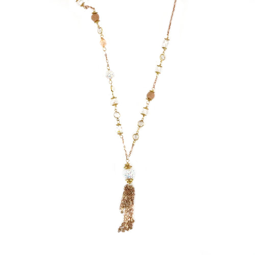 Lariat Rose Gold Necklace