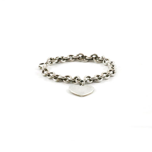 Heart Tag Chain Bracelet