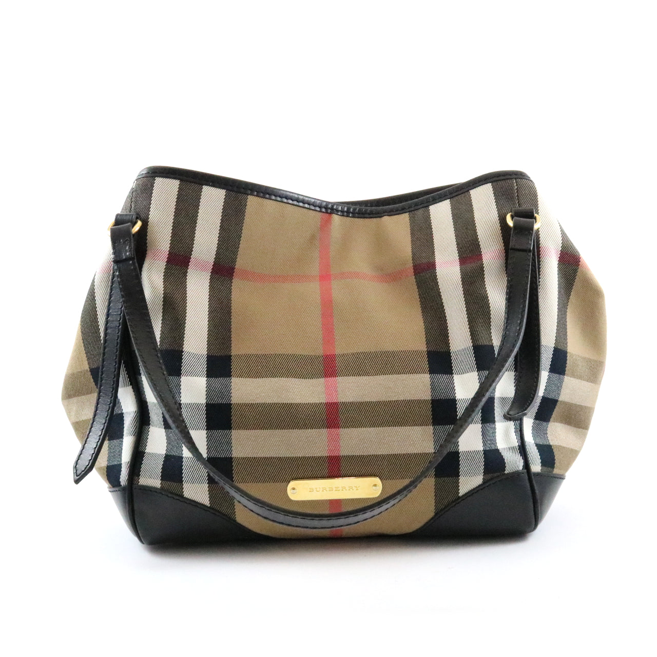 Canvas Check Shoulder Bag