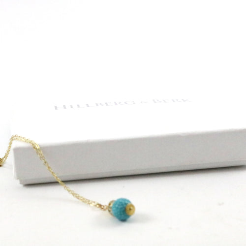 Powder Blue Lariat Necklace