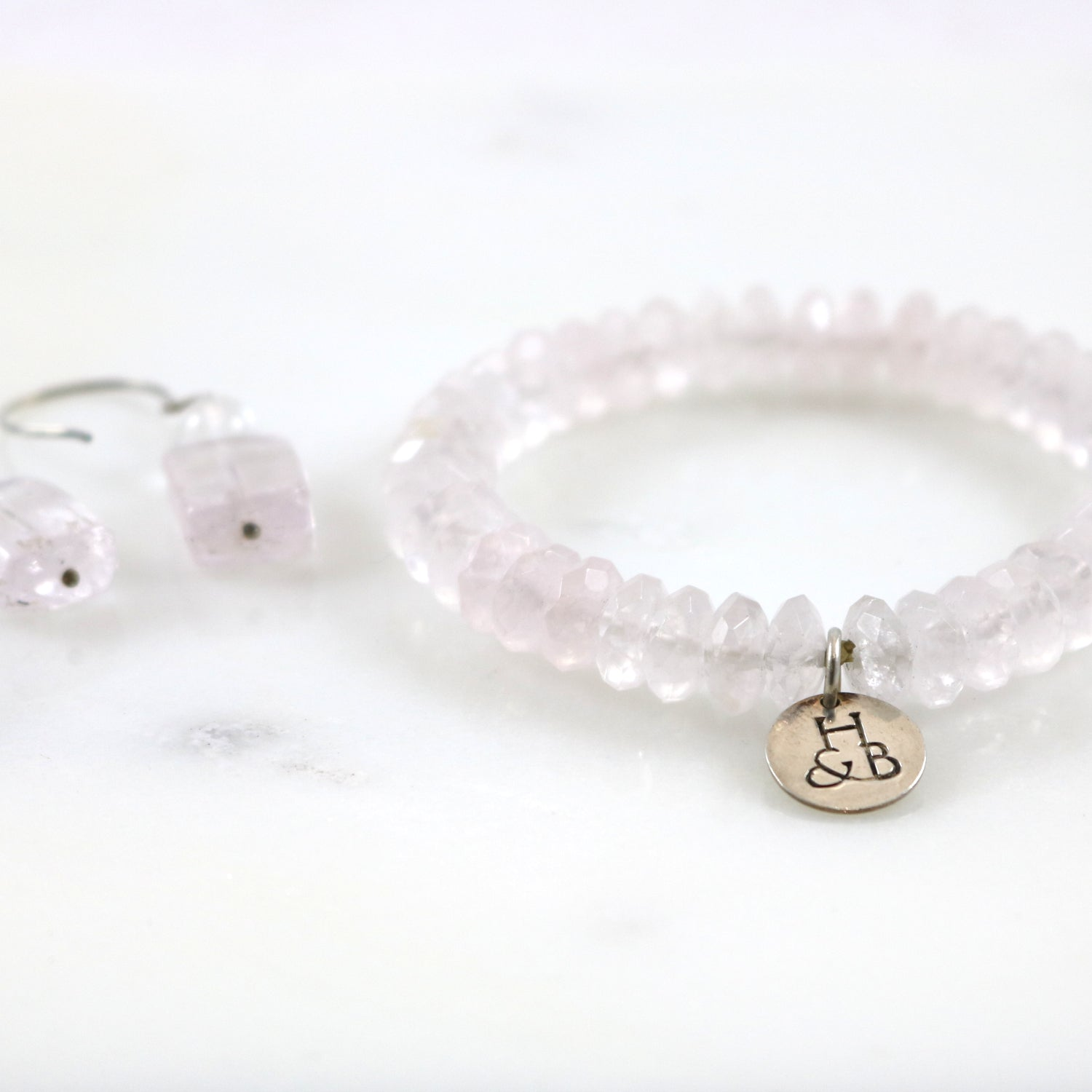 Quartz Bracelet & Earrings Set