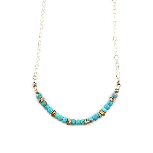 Round Turquoise Necklace