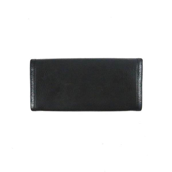 Pebbled Leather Flap Wallet