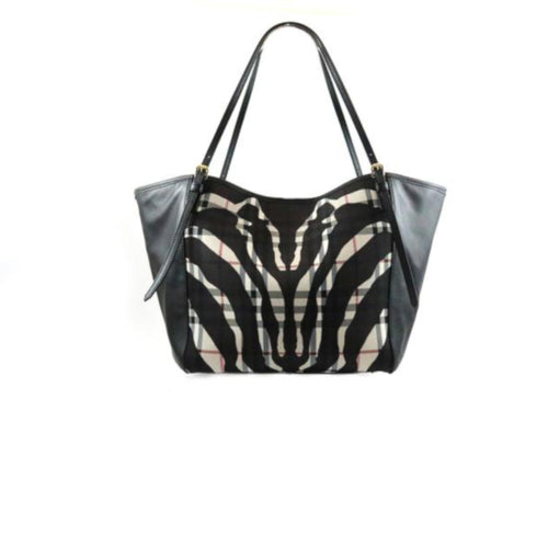 2-Way Zebra Check Tote
