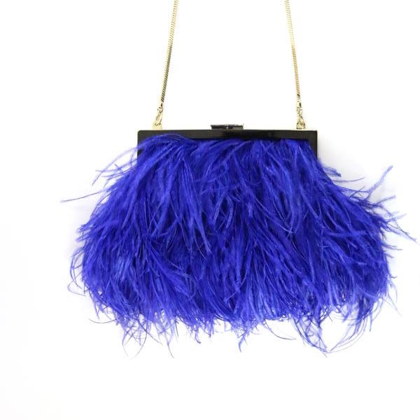 Ostrich Feather Cross Body