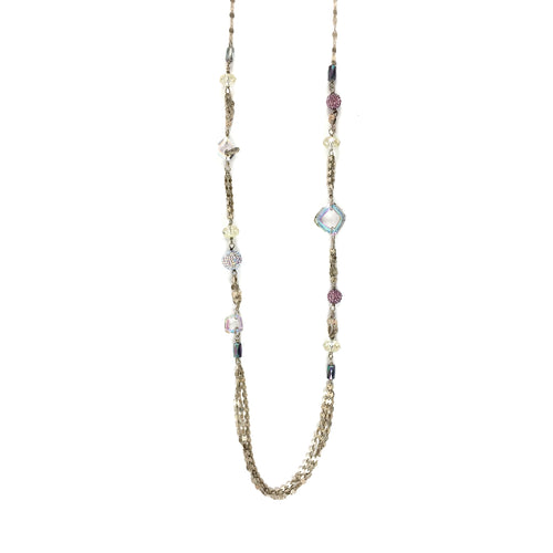 Purple Sparkle Lariat Necklace