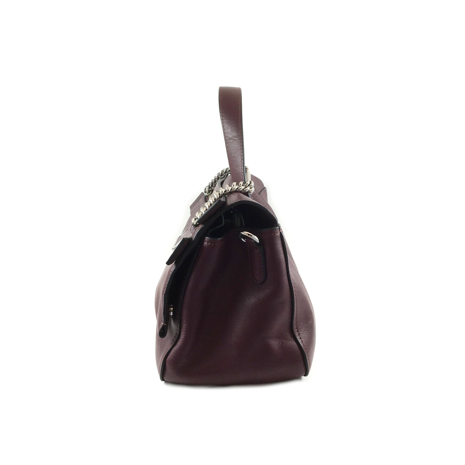 Oxblood Flap Satchel