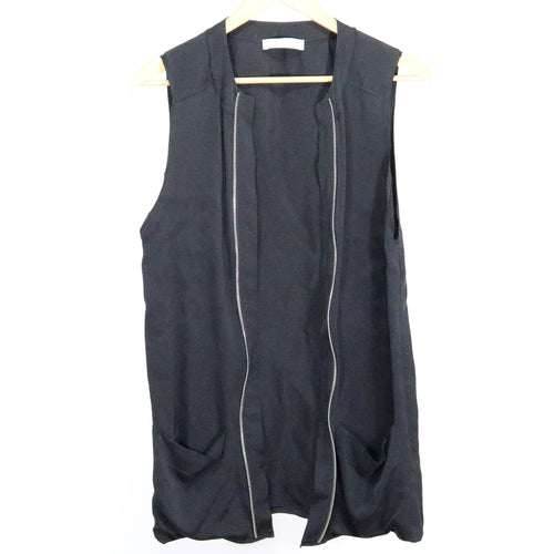 Sleeveless Zip Top