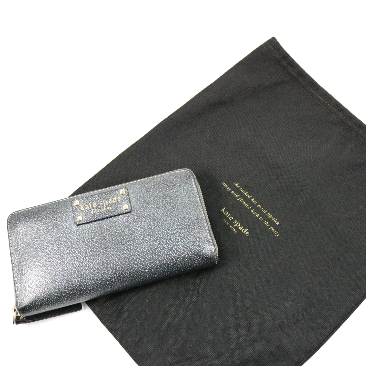 Metallic Grey Wallet