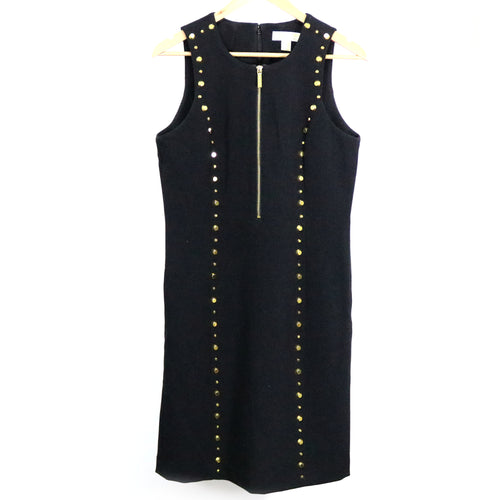 Gold Studded Sheath Dress