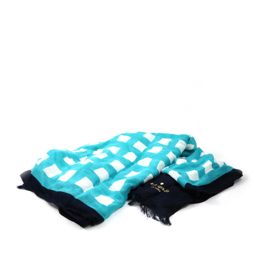Oblong Scarf Blue