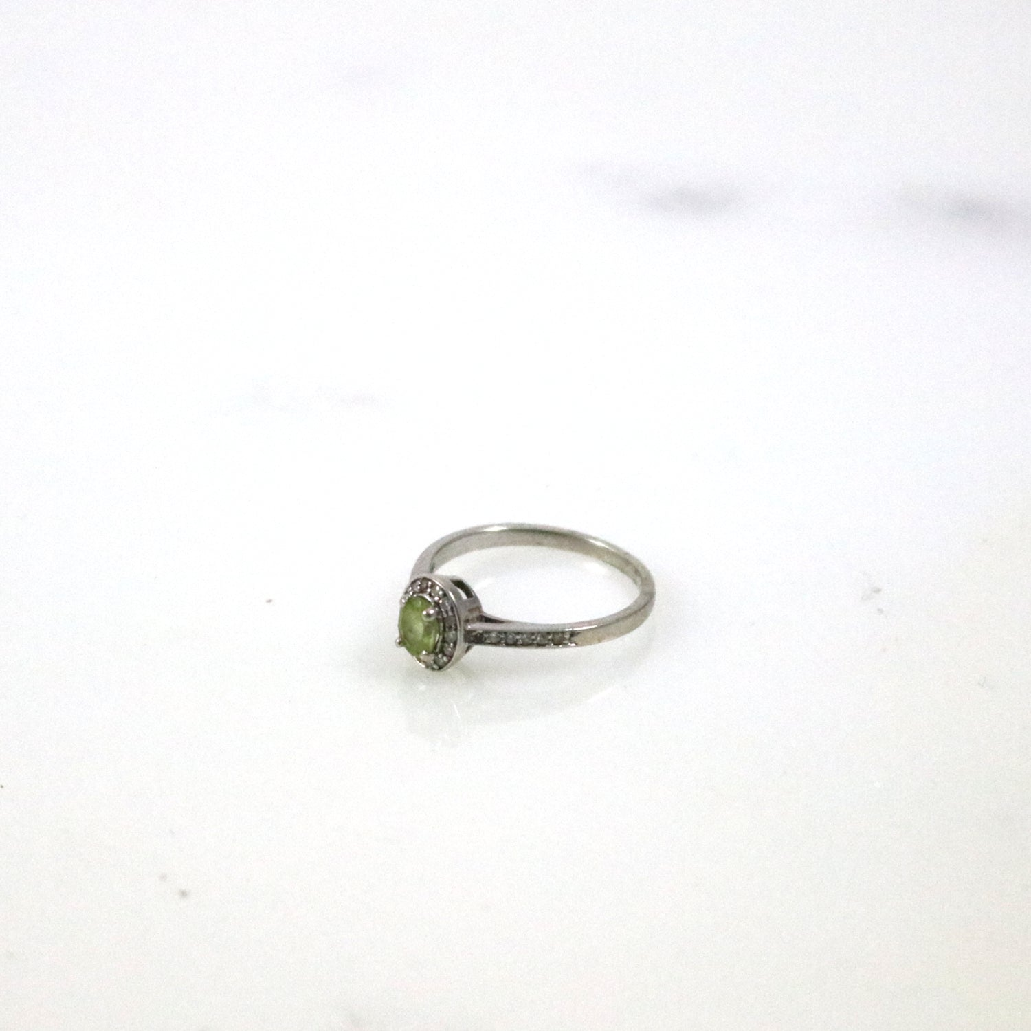 Oval Cut Peridot Ring
