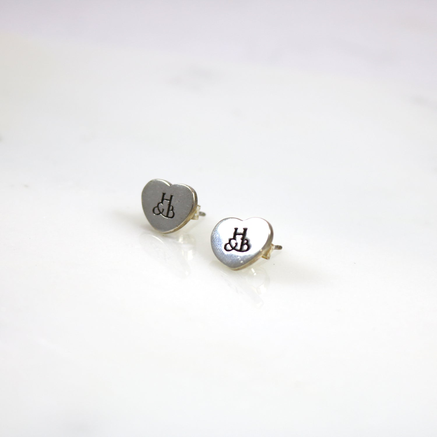 Original Heart Stud Earrings