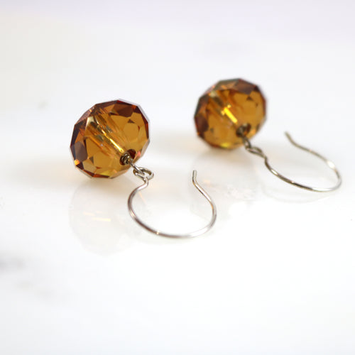 Golden Sun Drop Earrings