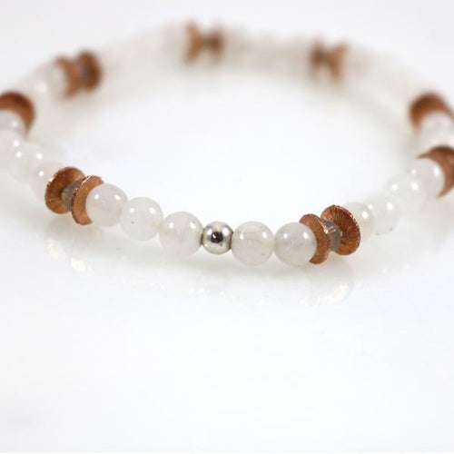 Small Ice Quartz Bead Bracelet