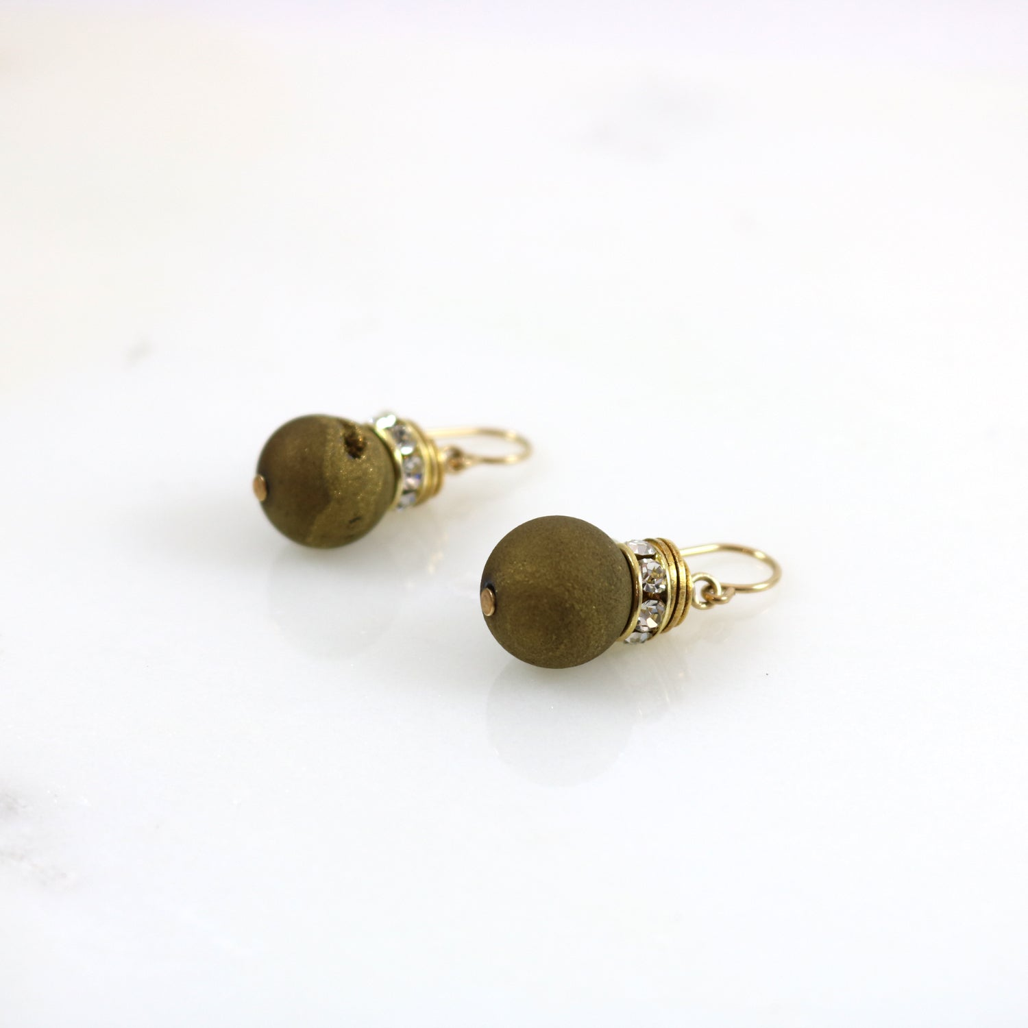 Electroplated Agate Drop Earrings