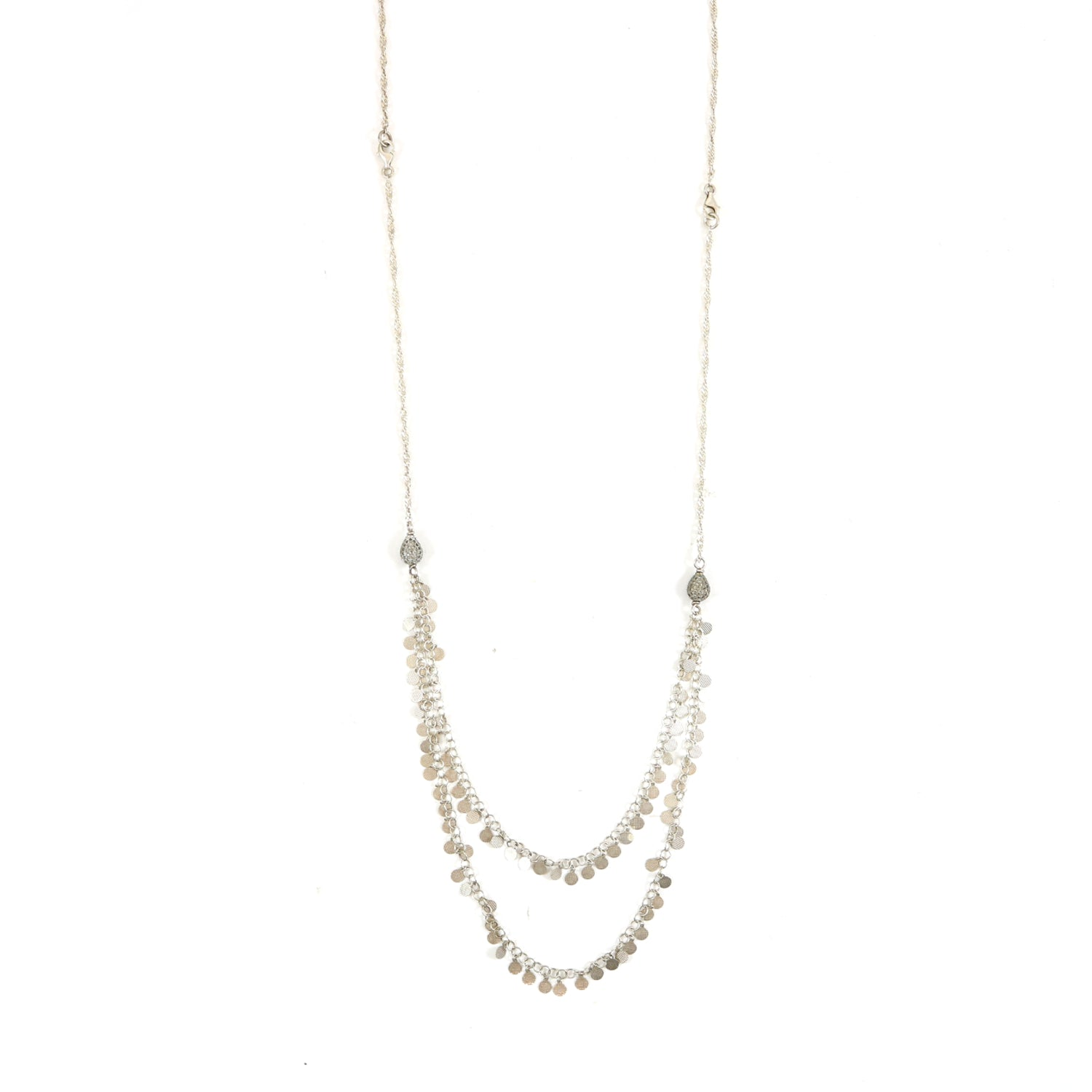 Silver Lariat Necklace