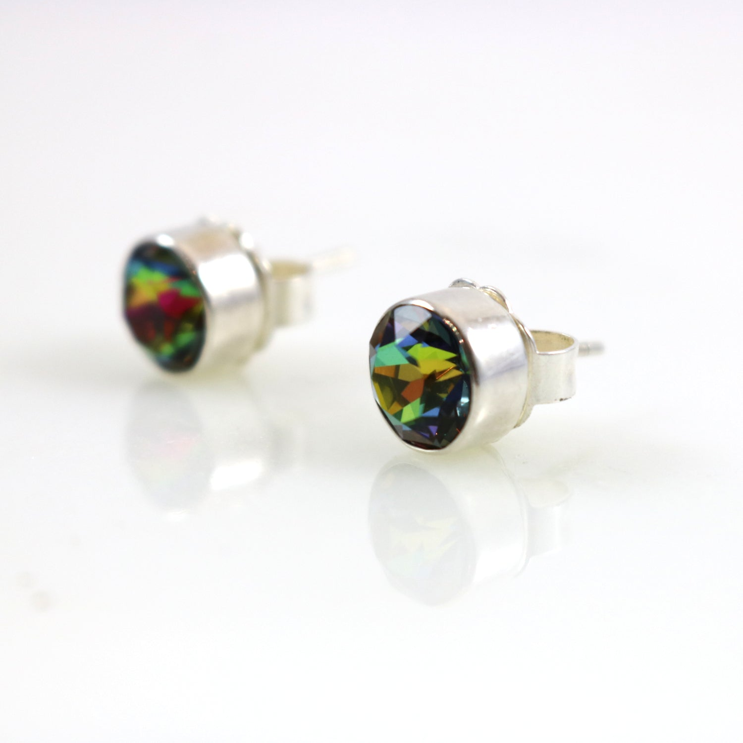 Eden Ammolite Stud Earrings