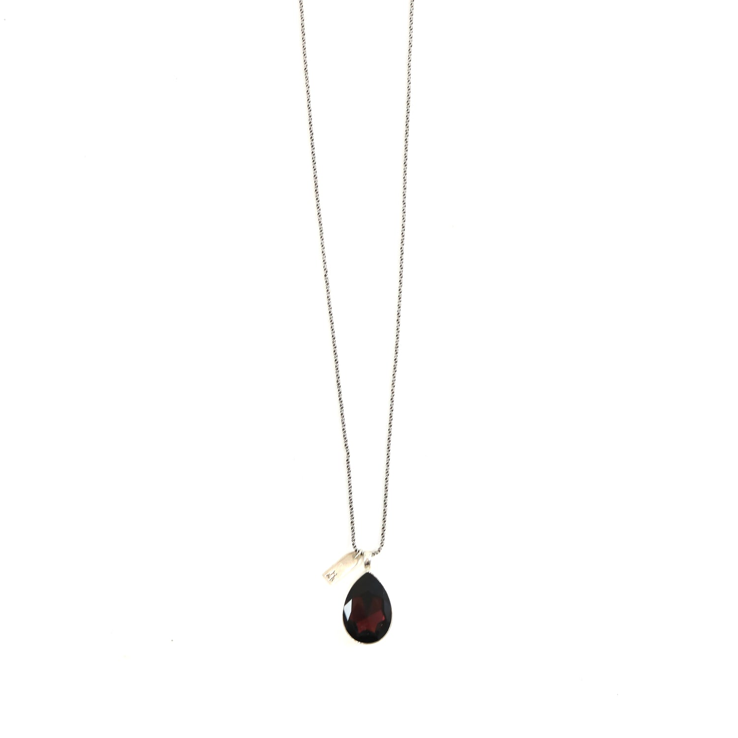 Burgundy Drop Necklace