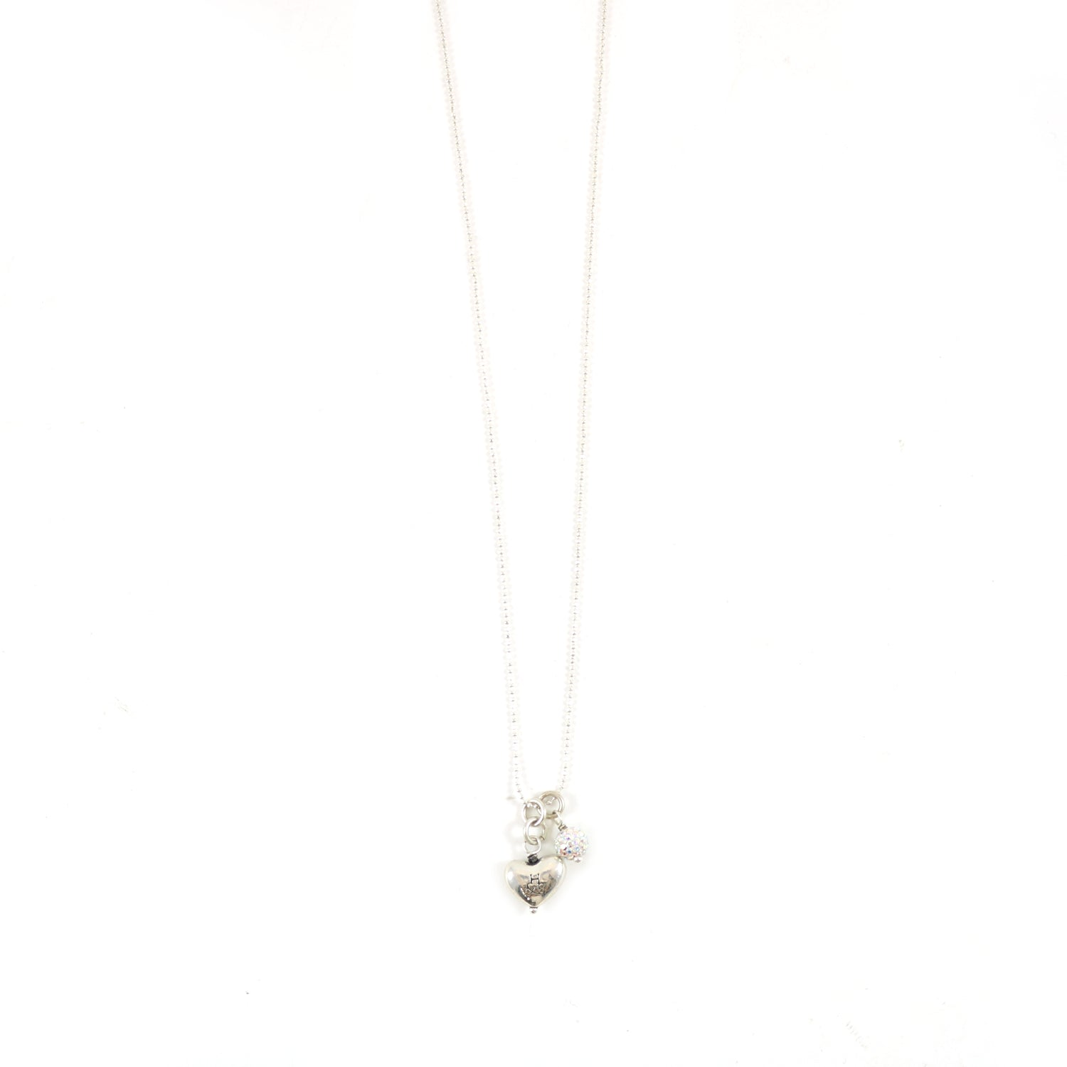 Sparkle Heart Cluster Necklace
