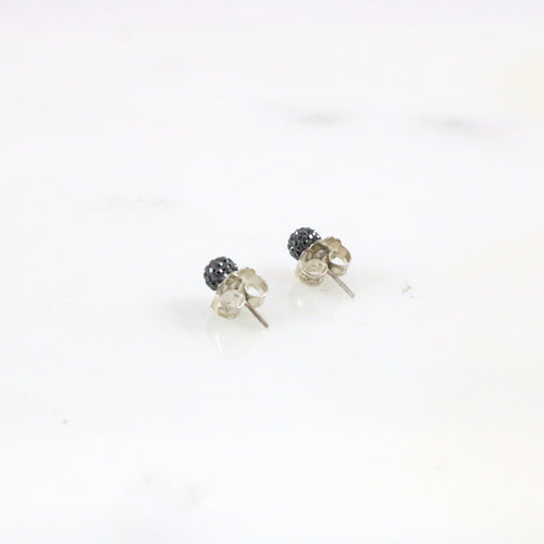 6mm Hematite Stud Earrings