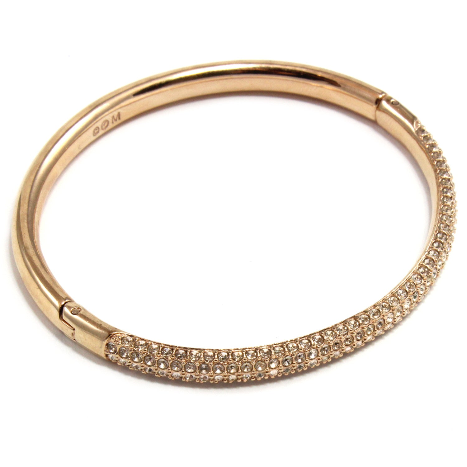 Rose Gold Crystal Bangle
