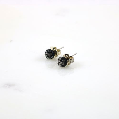 8mm Hematite Fade Earrings