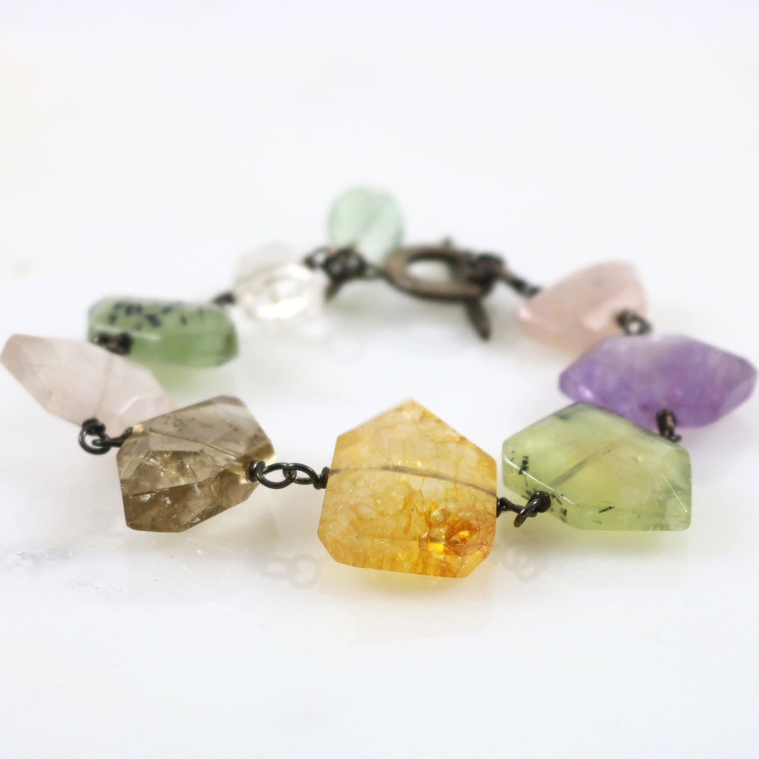 Multi- Color Stone Bracelet