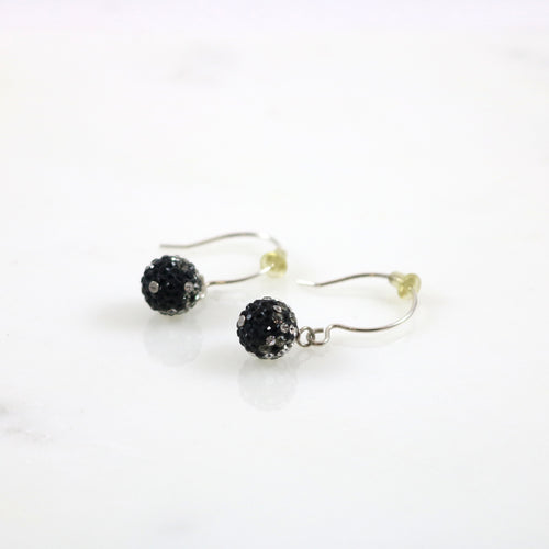 10mm Hematite Fade Drop Earrings
