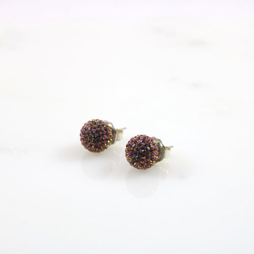 12mm Electric Sunset Stud Earrings