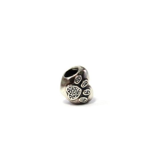 I Love my Pet Paw Print Charm