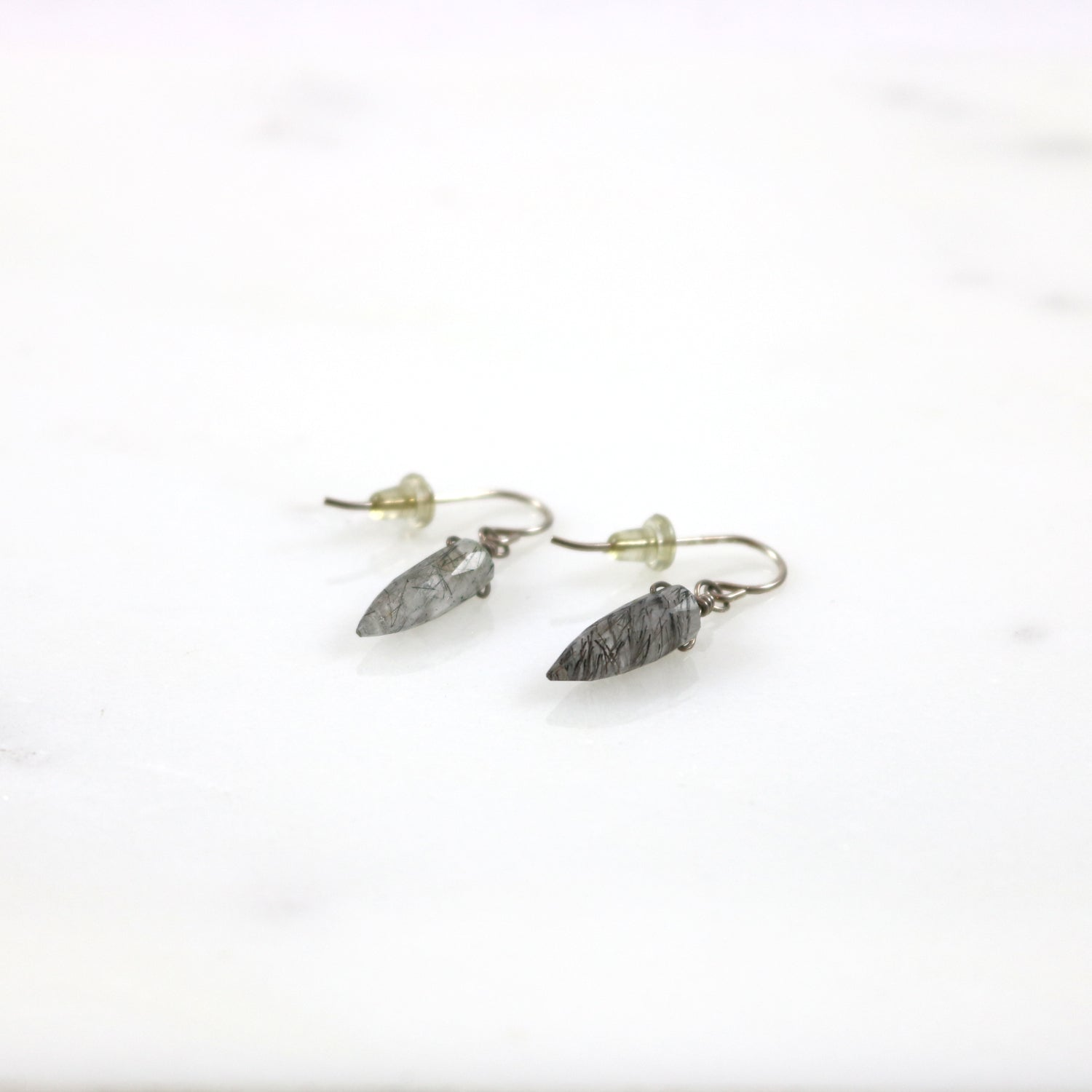 Needle Quartz Earrings