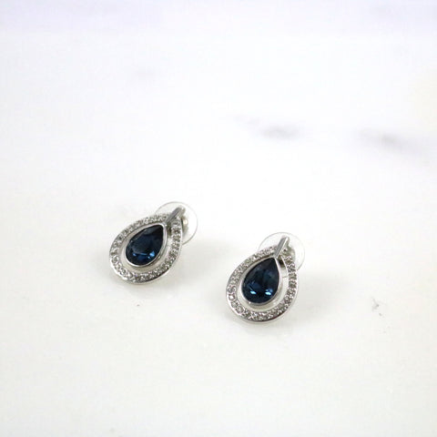 Ray Silver Stud Earrings
