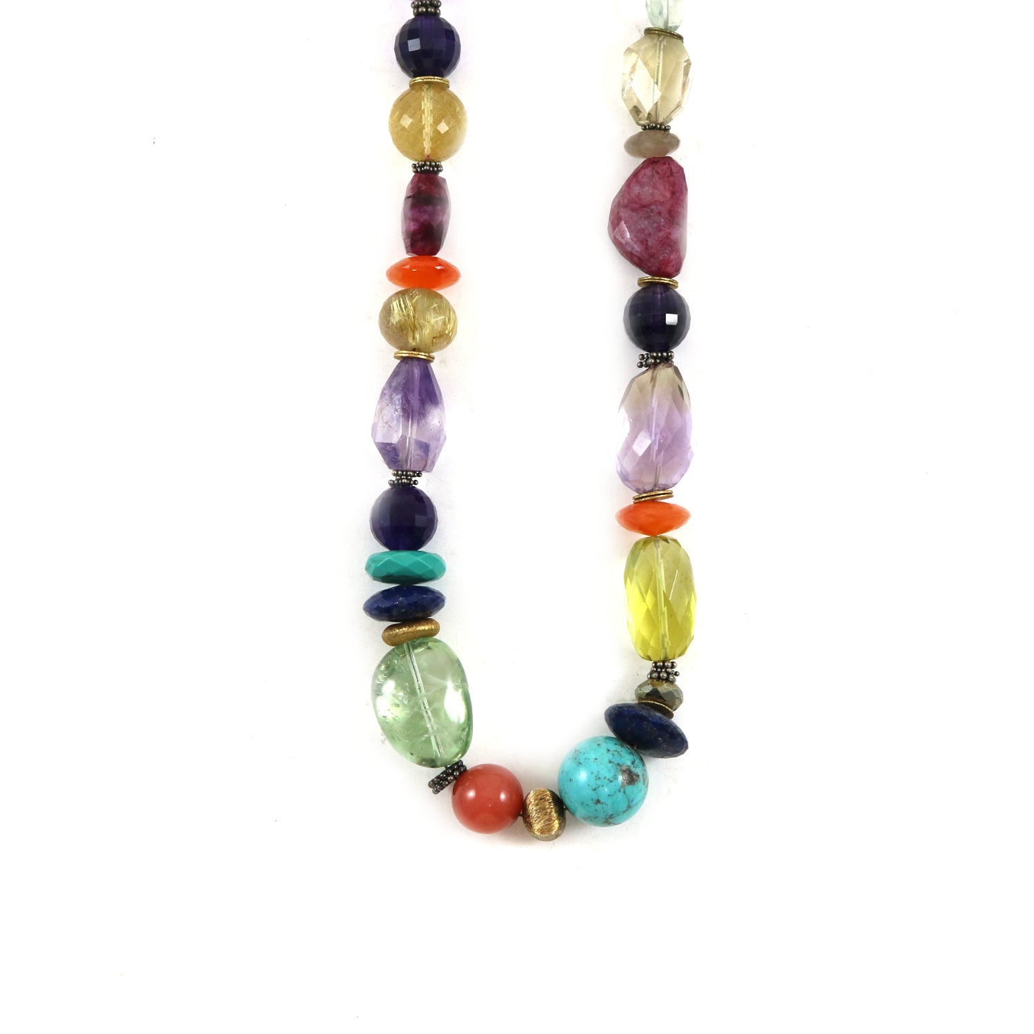 Statement Multi-Coloured Bead Necklace