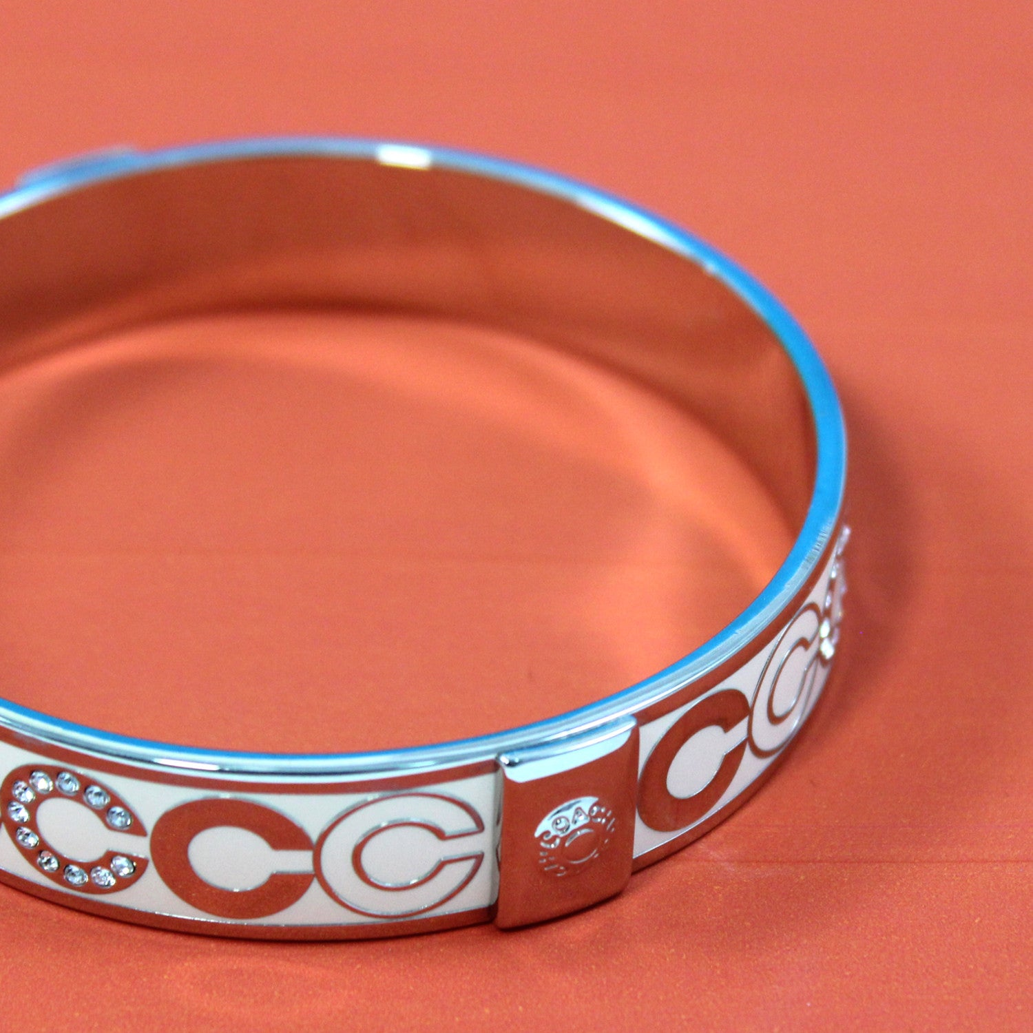 White Enamel Bangle