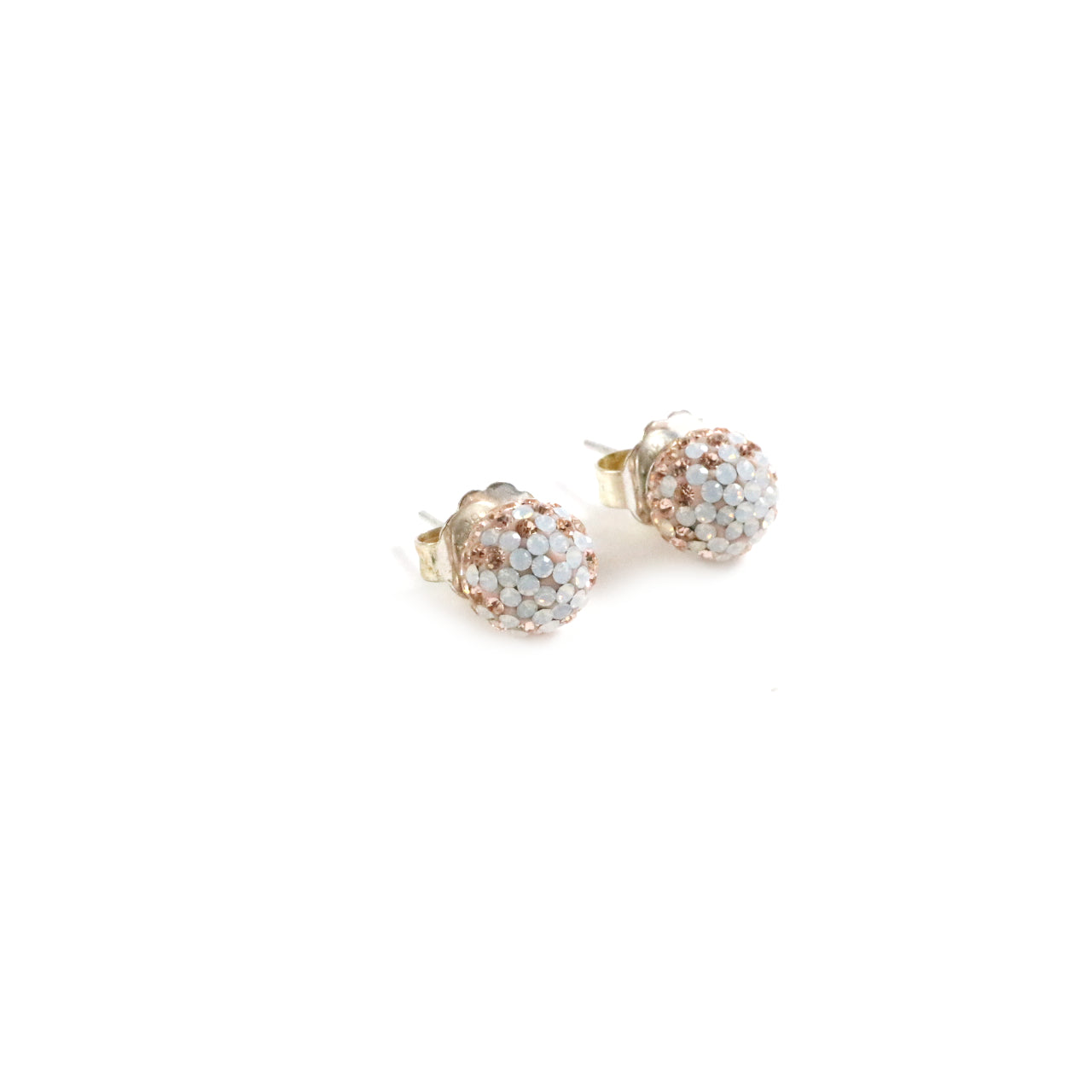 Champagne Fade Sparkle Ball Earrings