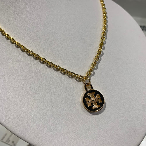 Repurposed Tory Burch Pendant Necklace