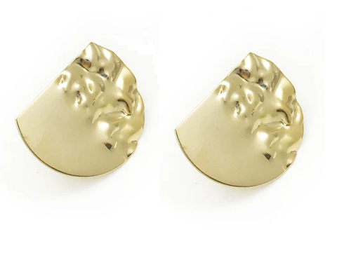 Silver Flash Studs with Bronze Pearl