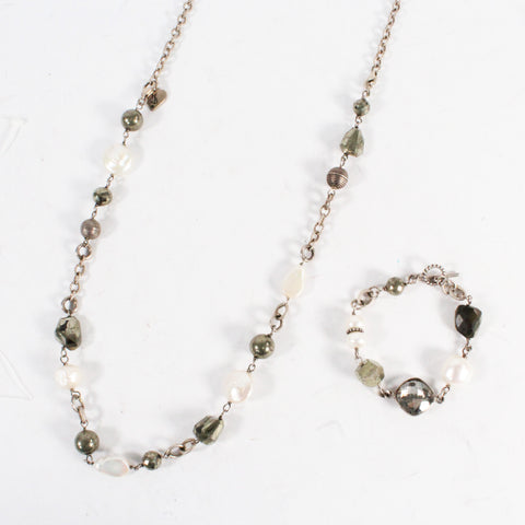 Natural Stone Lariat Necklace