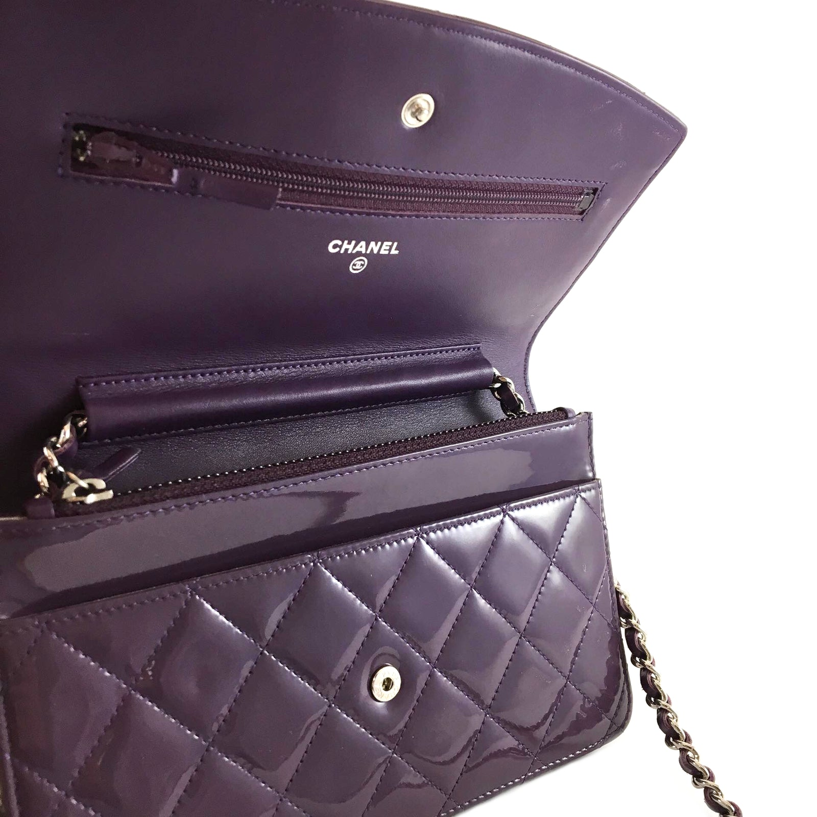 Patent Quilted Brilliant WOC