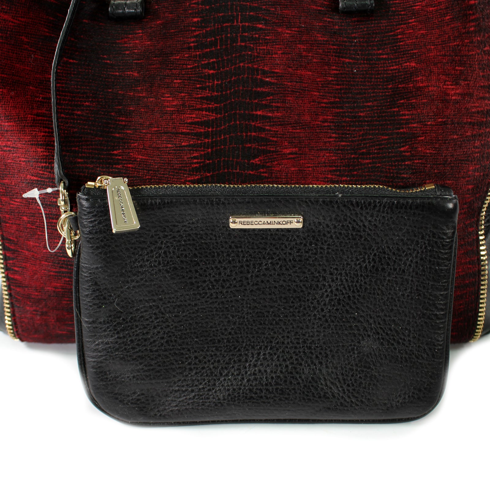 Black & Red Satchel