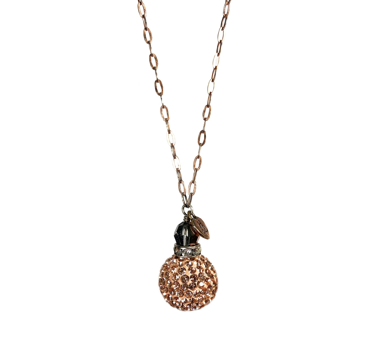 Rose Gold Sparkle Ball Lariat