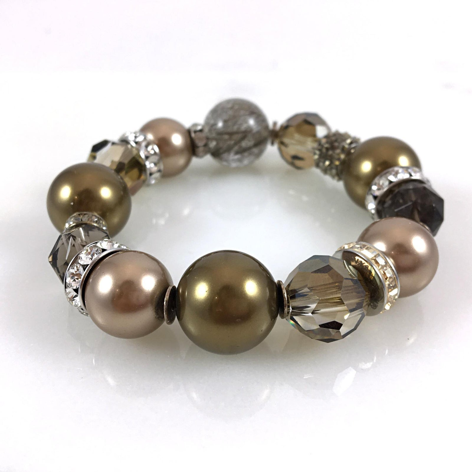 Bronze Tone Mixed Bracelet